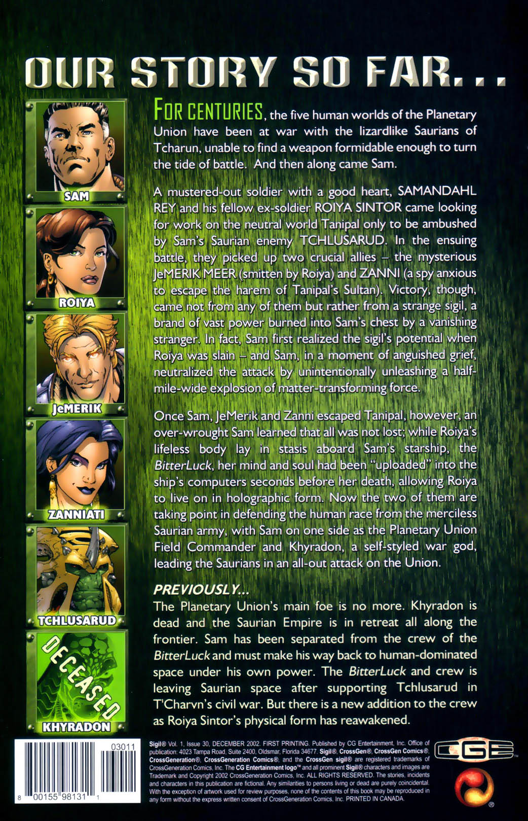 Read online Sigil (2000) comic -  Issue #30 - 3