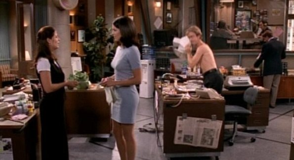 A classic sequence from the 'Planbee' episode of NewsRadio