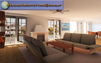 Render architettura illustrazioni 3d casa interni 2d3d for Architettura interni case