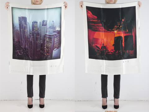 polaroid scarves