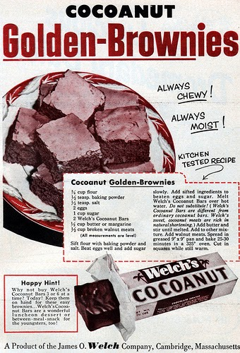 Dying For Chocolate Cocoanut Brownies Retro Ad Amp Recipe