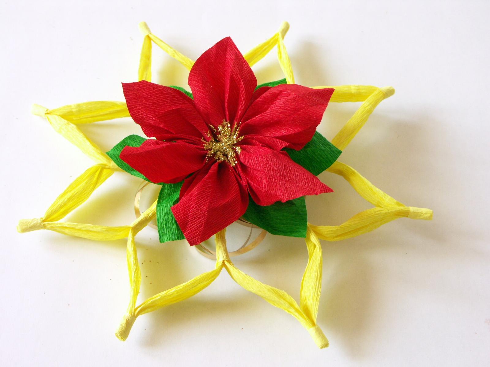 Tatamusetta Tutorial Decorazione Con Stella Di Natale In Carta Crespa