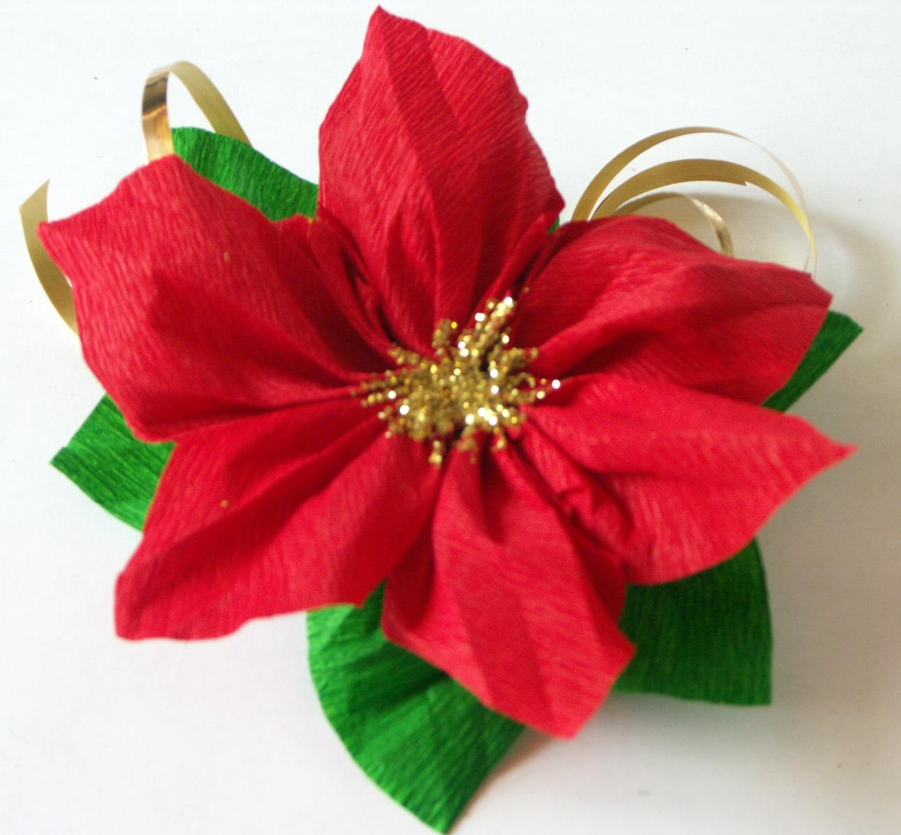 Amato Tatamusetta: tutorial decorazione con stella di natale in carta crespa VM06