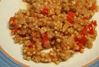 trigo sarraceno con sofrito de verduras