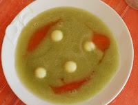sopa de melón y menta