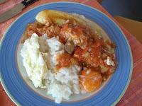 arroz a la cubana con ternera