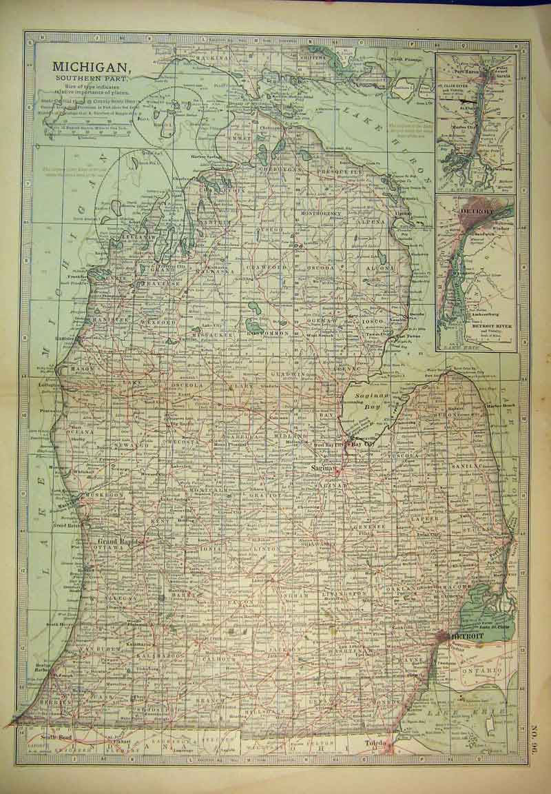 Old Maps Of Michigan