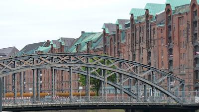 Speicherstadt, Hamburg, Brücke, Kupferdächer