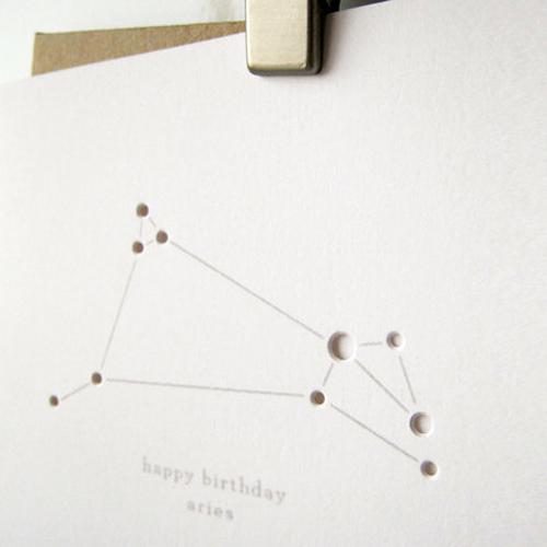 Constellation Birthday Cards Design Crush