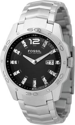 Secretbargains3 Fossil Analog Glitz Black Dial Watch Am4089