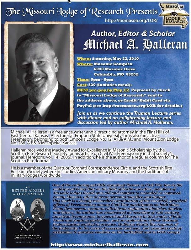 Freemasons For Dummies: Missouri Lodge of Research: Michael Halleran