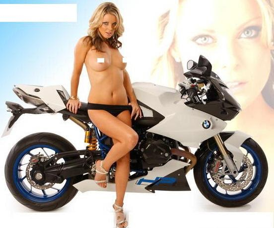 bmw motor review with hot girl models  motor modif