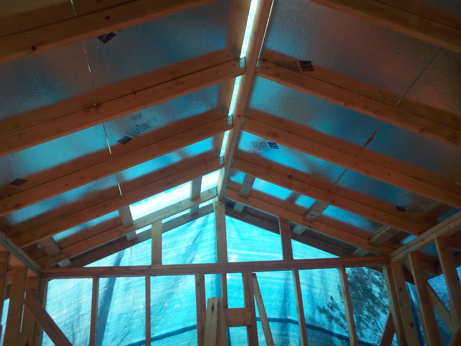Morgan Homestead Roof Sheathing