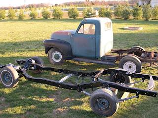 1953 GMC pickup, S-10 frame swap: 1953 GMC pickup