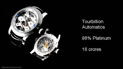 tourbillion Automatics 98% platinum 16 crores