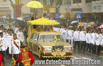 Sultan of Brunei car inlaid with pure gold