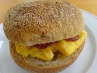 Simply Bread, bacon scrambled eggs roll