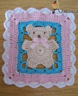 Manta para bebe a crochet con patron ~ Solountip.com
