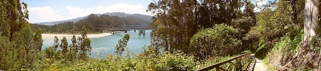 fotografía panorámica puentes sobre el río sor en o barqueiro