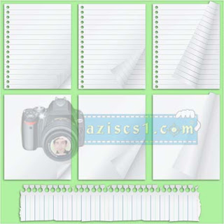Download Template / Gambar ( PNG ) Kertas buku