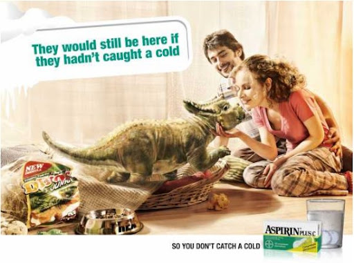 Dinosaurs would not die out, if drank Aspirin Plus C