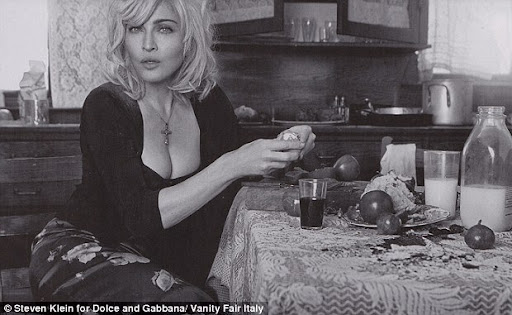 The Madonna became the housewife in advertising Dolce & Gabbana