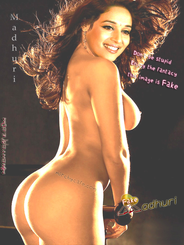 Madhuri dixit fake boobs good