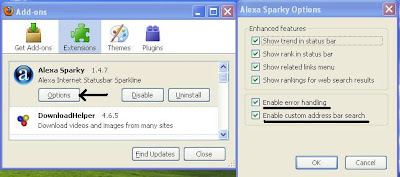 Alexa Sparky Add-on Options