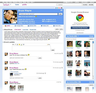 brand new Orkut interface