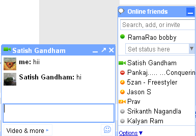 New Orkut Online friends list and chat box