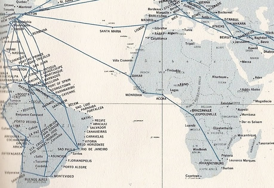 The Timetablist Pan Am The African Route 1960