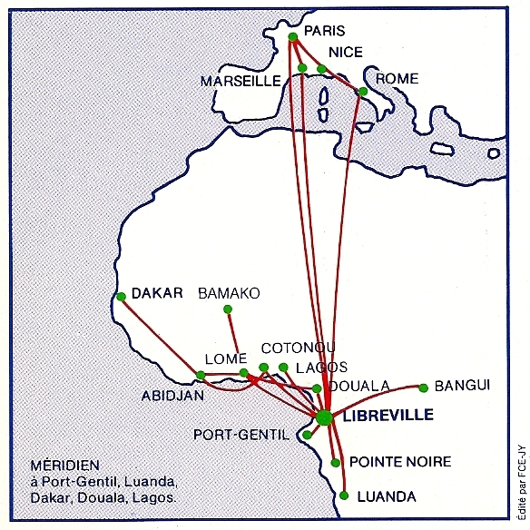 The Timetablist: Air Gabon: Worldwide Network, 1992