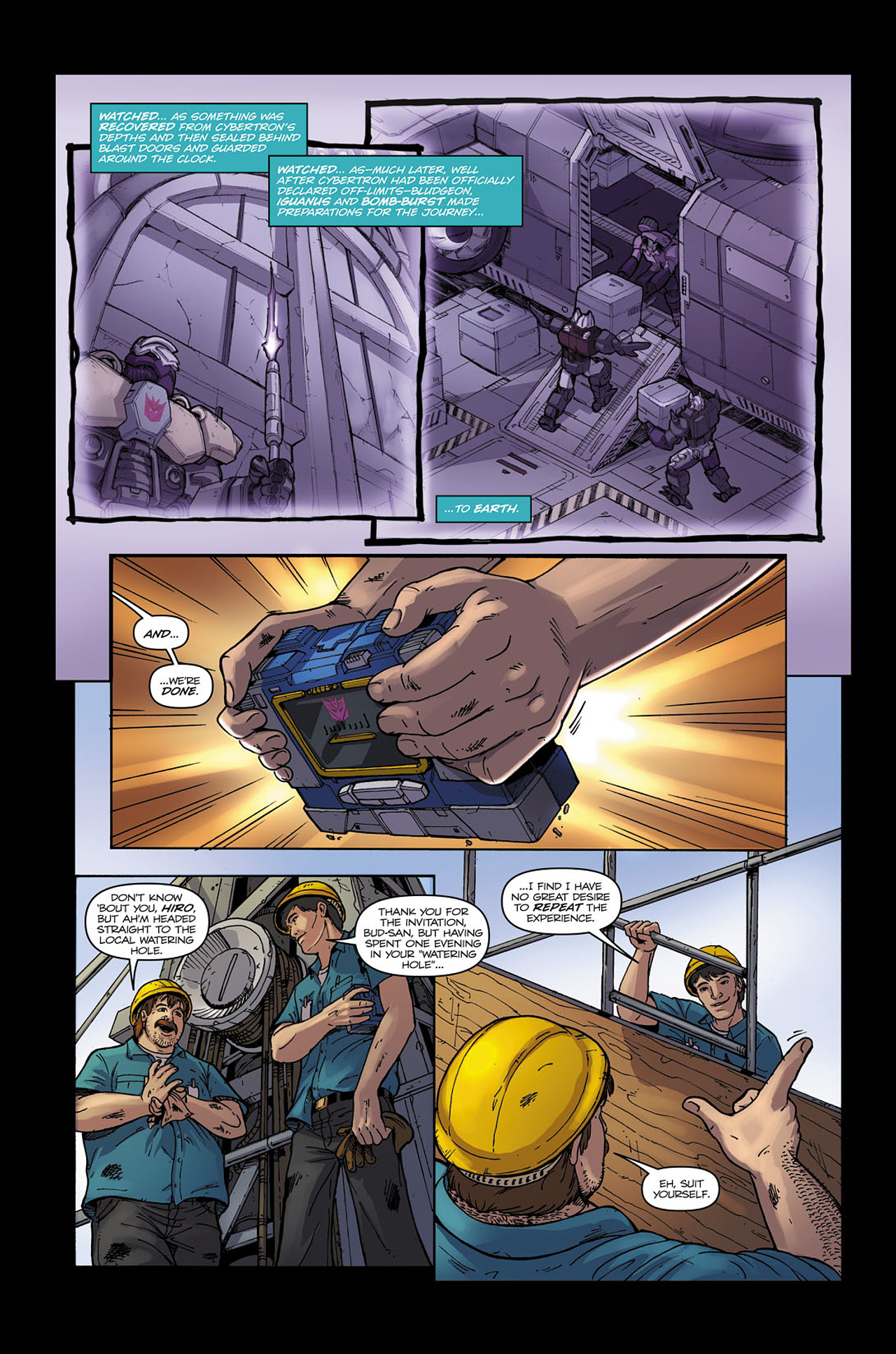 Read online Transformers Spotlight: Soundwave comic -  Issue # Full - 8