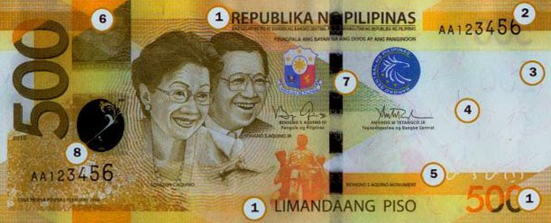 Philippine Money Peso Coins And Banknotes New 500 Peso