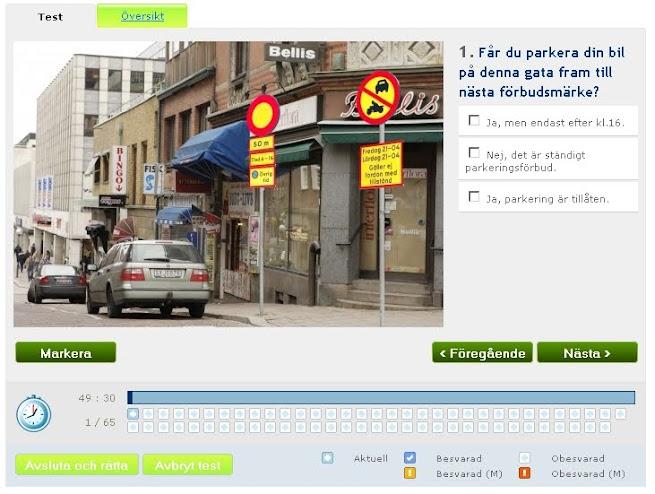 Körkortsfrågor online