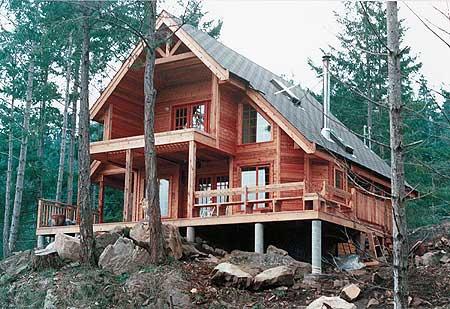 Casa campestre de madera