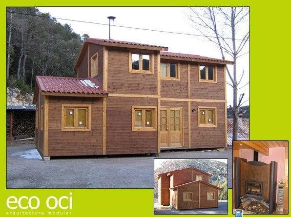 Arquitectura de casas casa modular de madera en espa a - Casas de madera espana ...