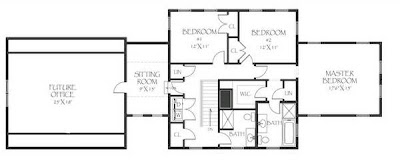 Plano Planta Alta de la residencia americana