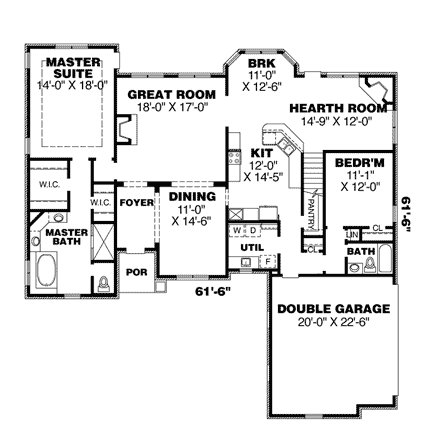 Plano arquitectónico de planta baja de residencia