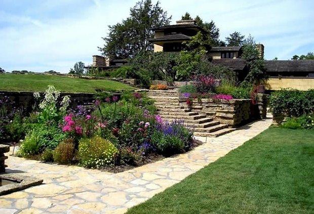 Jardines de la Casa Taliesin en Wisconsin