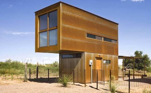 Arquitectura de casas casa compacta peque a econ mica en for Casa minimalista economica