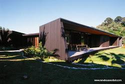 casas modernas madera casa moderna dentro por cristal