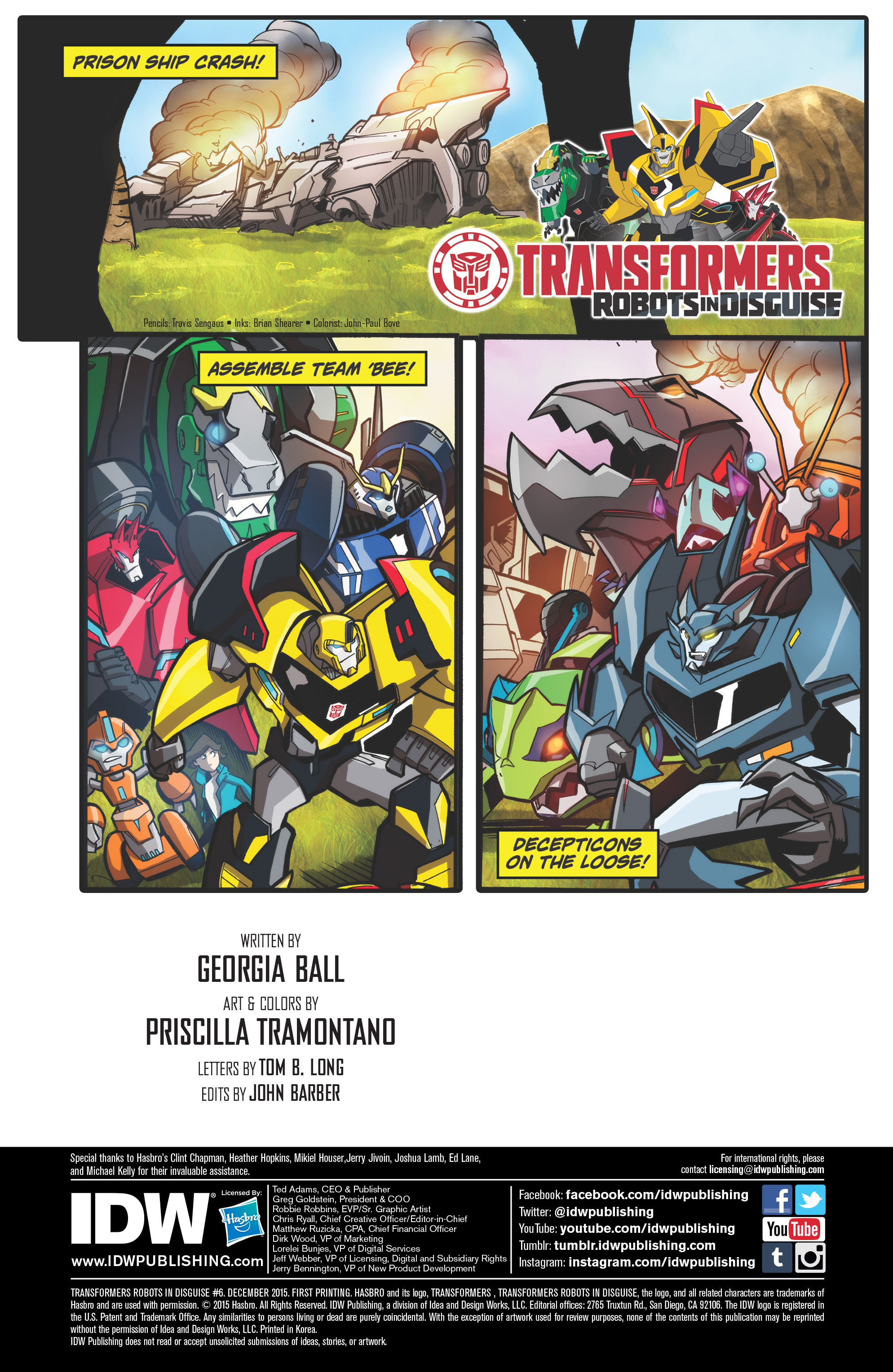 Read online Transformers: Robots In Disguise (2015) comic -  Issue #6 - 2
