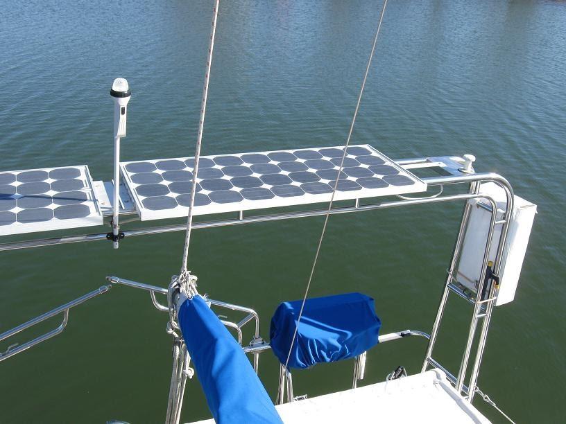 Sailboat Family: Seimens Solar Panels On Gemini 3200 Rear Arch