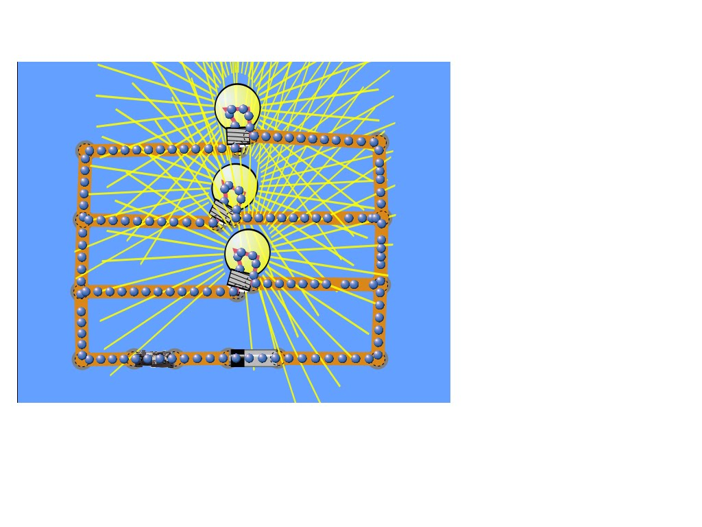 small resolution of parallel circuit there are three parallel wires each with a light bulb