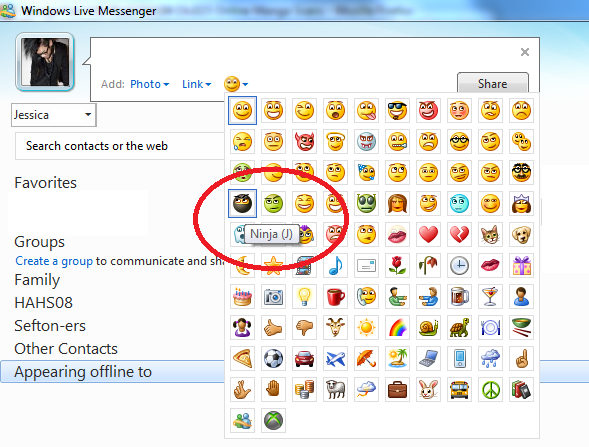 emoticon msn 2011