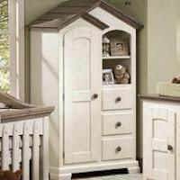 Mueble armario exento o independiente de una habitación infantil