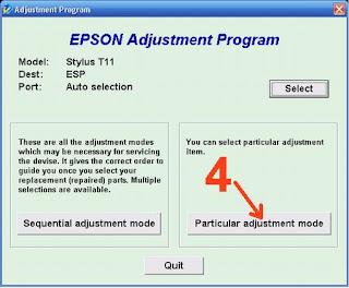 Atasi Printer Epson Stylus T11 Blinking dengan Resetter