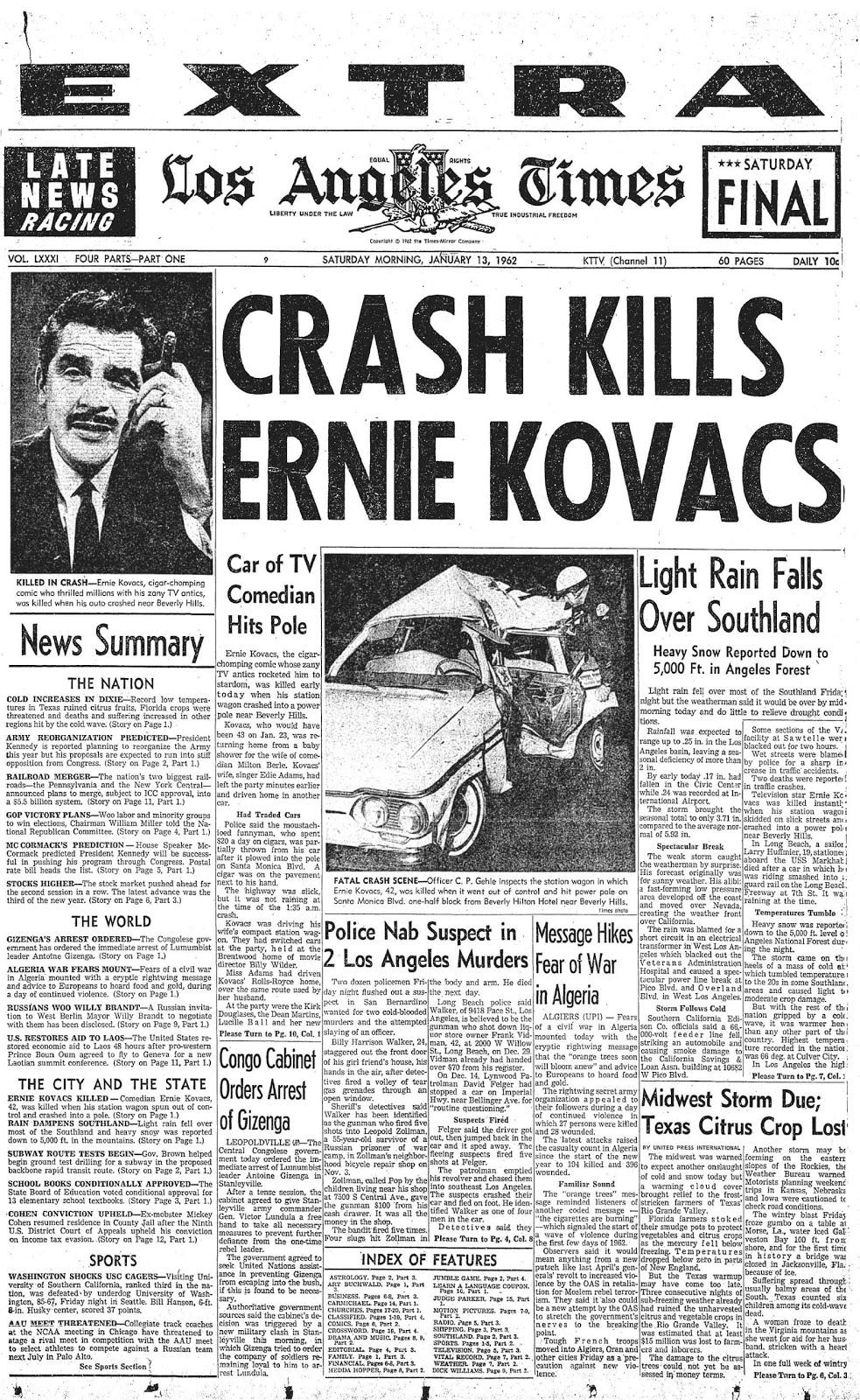 Kovacs Corner Blogspot Los Angeles Times Headline On