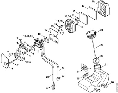 stihl fs 85 trimmer parts diagram 4 bit binary adder circuit spare for machinery of garden / repuestos para maquinas de jardin: repair manual